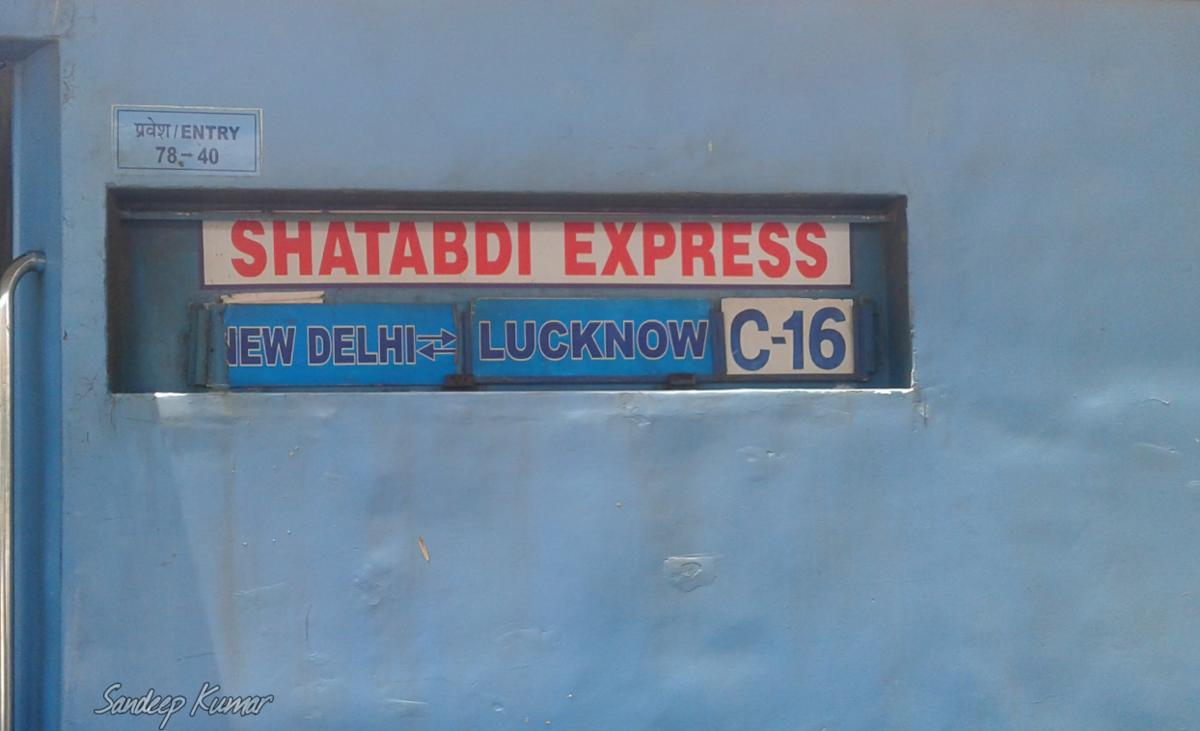 12004/New Delhi - Lucknow Jn Swarn Shatabdi Express - New Delhi to