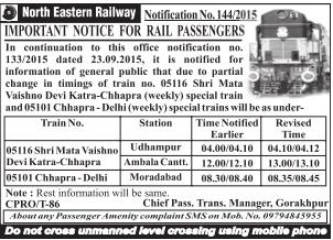 Chhapra - Delhi Jan Sadharan Weekly Special (UnReserved