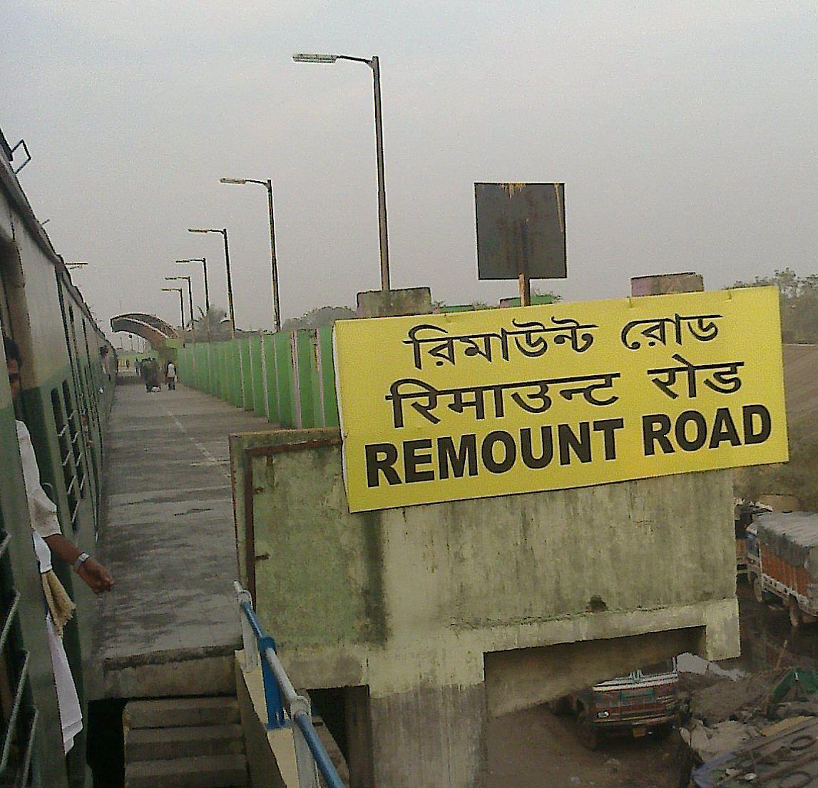 Remount Road Railway Station Map Atlas Er Eastern Zone Railway Enquiry