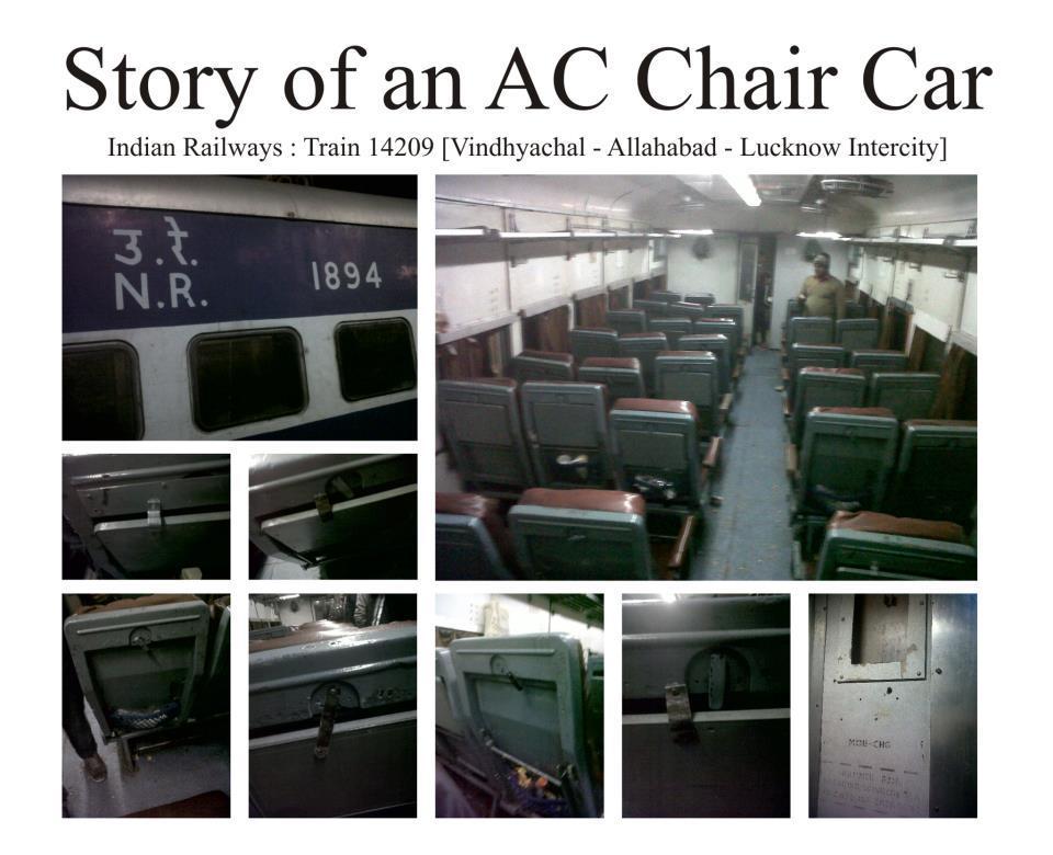 662402 0 story of an ac chair car of indian railw 14209 prayag