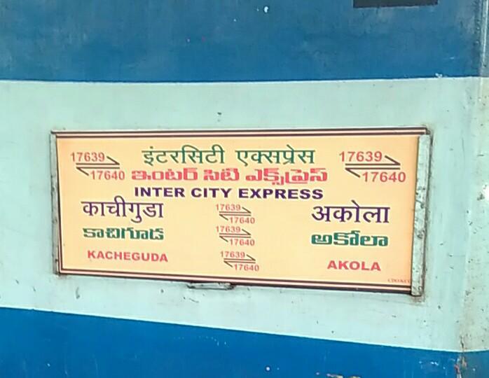 Akola - Kacheguda InterCity Express/17640 IRCTC Fare Enquiry - Railway  Enquiry