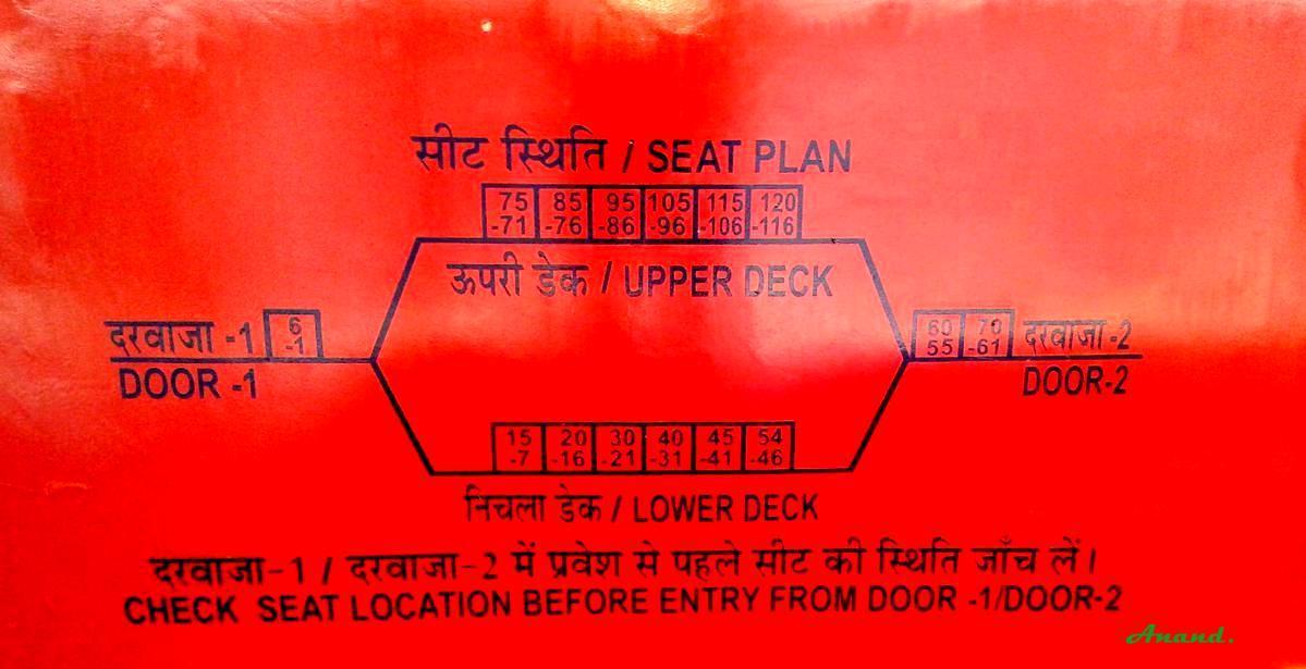 Double Decker Dd Seat Arrangement Railways Faq Railway Enquiry