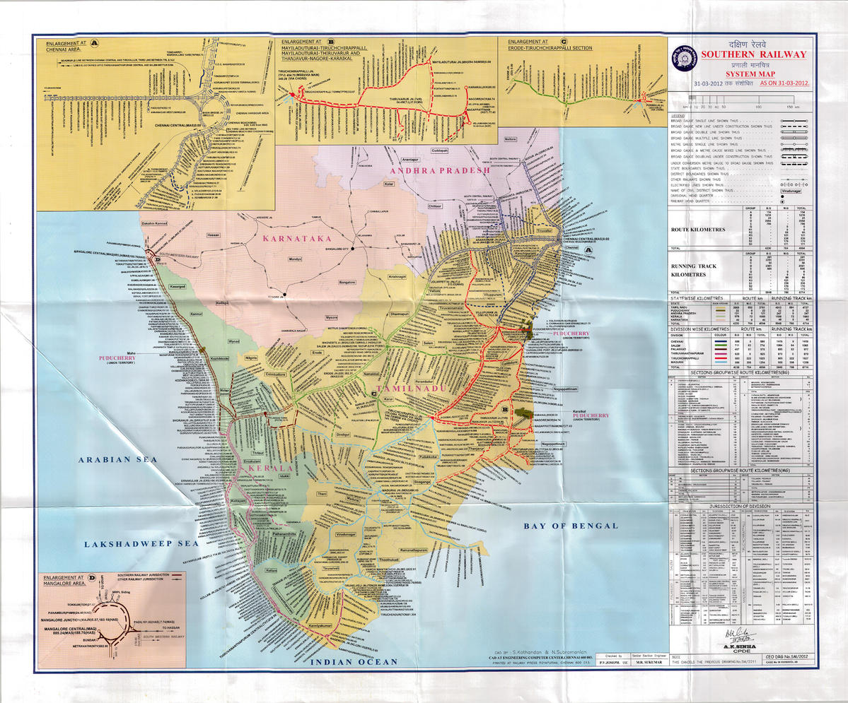 southern railway route map I Want System Map Of Southern Railway Railways Faq Railway southern railway route map