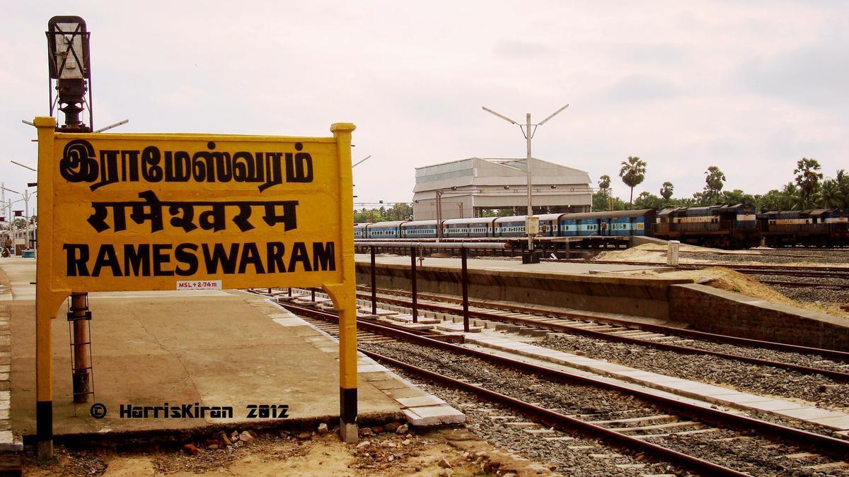 Southern Railway Map Of India.Rameswaram Railway Station Map Atlas Sr Southern Zone Railway Enquiry