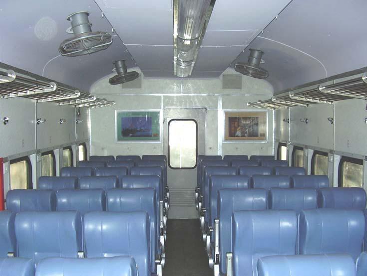 inner view and seat arrangement 3x3 of garib rath ac chair car