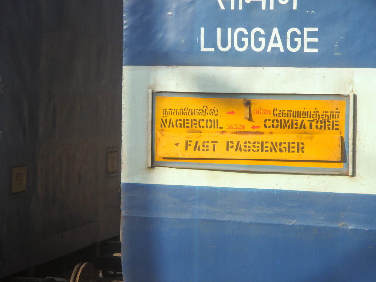 Coimbatore - Nagercoil fast Passenger (UnReserved)/56320 Time Table