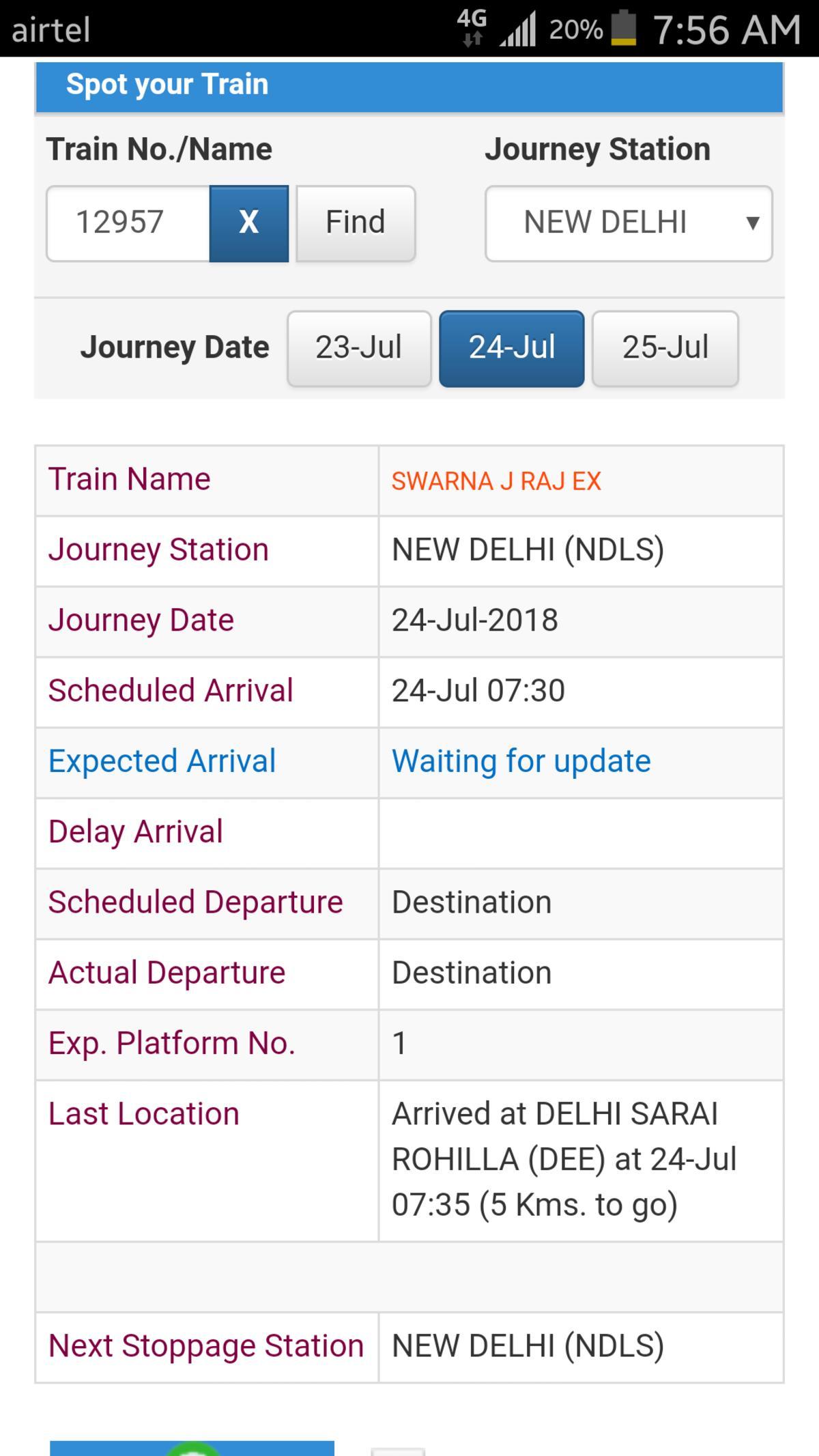 Swarna Jayanti Rajdhani Express/12957 Picture & Video Gallery
