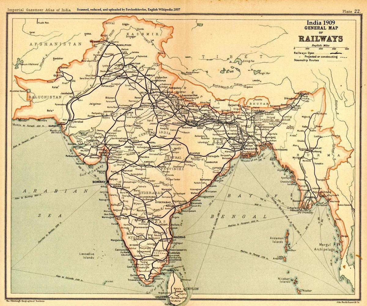 Indian railway forum search term 1909 map 1 railway enquiry gumiabroncs Image collections
