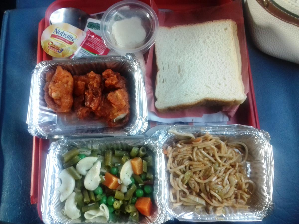 New delhi dibrugarh town rajdhani express12424 travel tips continental food which i get for lunch very less quantity rating 35 along with veg and non veg food jain food also available forumfinder Gallery