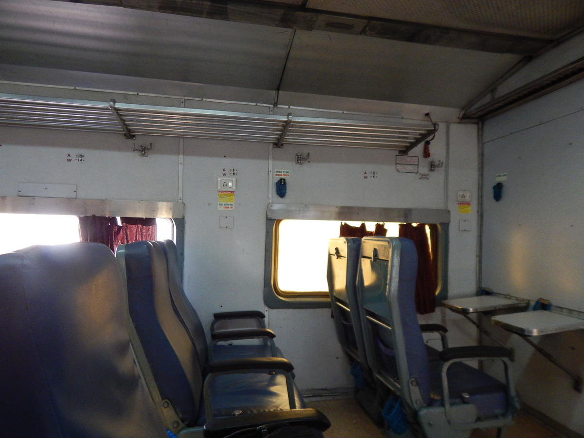 Almost empty CC of 16205 from till Shimoga, hardly 3-4 people.