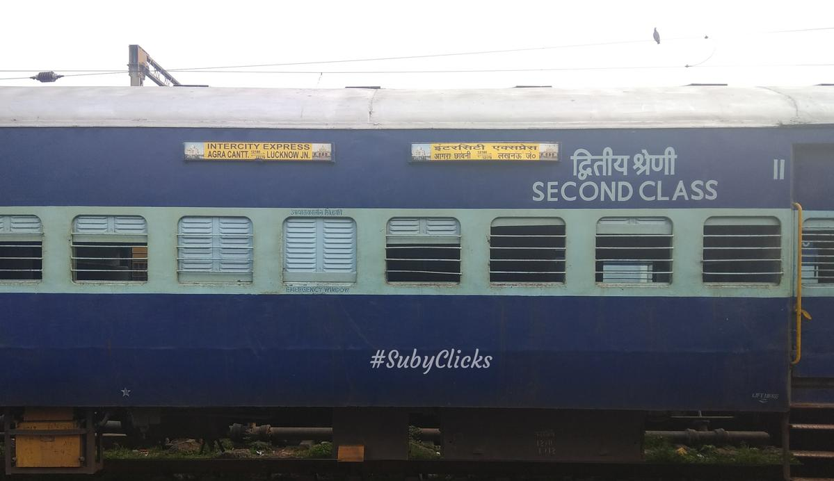 Lucknow Jn  - Agra Fort InterCity SF Express/12179 IRCTC