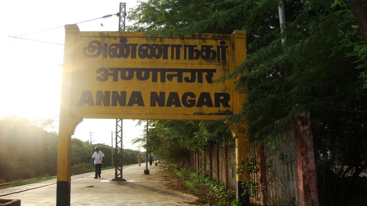 anna nagar chennai map Anng Anna Nagar Railway Station Map Atlas Sr Southern Zone anna nagar chennai map