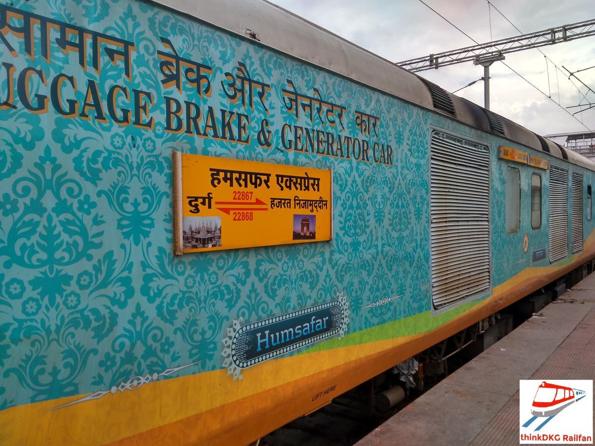 Durg - Hazrat Nizamuddin Humsafar Express/22867 IRCTC Fare Enquiry