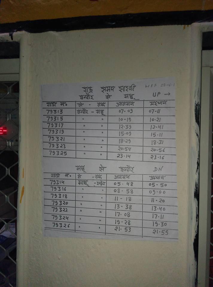 Indore - Dr. Ambedkar Nagar DEMU/79323 Travel Forum - Railway Enquiry