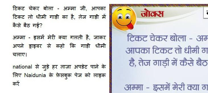 hindi jokes ticket checker and old age woman 792049