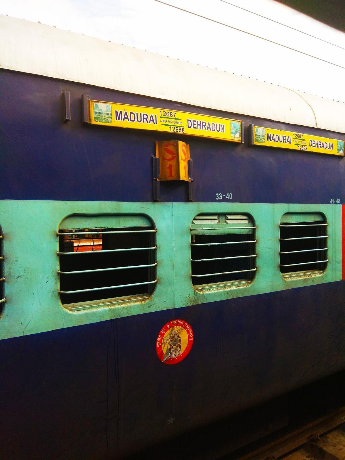 Madurai - Dehradun SF Express (PT)/12687 Travel Tips - Railway Enquiry