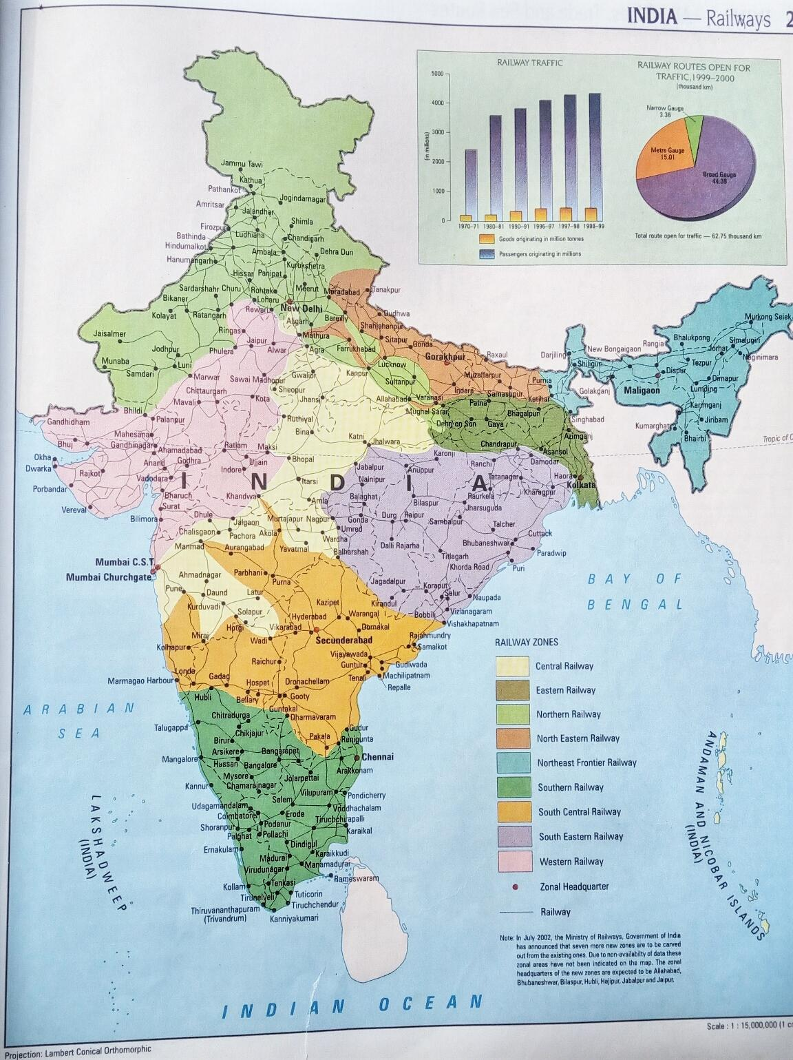 Indian railway forum 1 railway enquiry found this old atlas book of mine 1998 reprinted while teaching geographical map to my younger brother atlas map shows the zones and headquaters of indian gumiabroncs Image collections